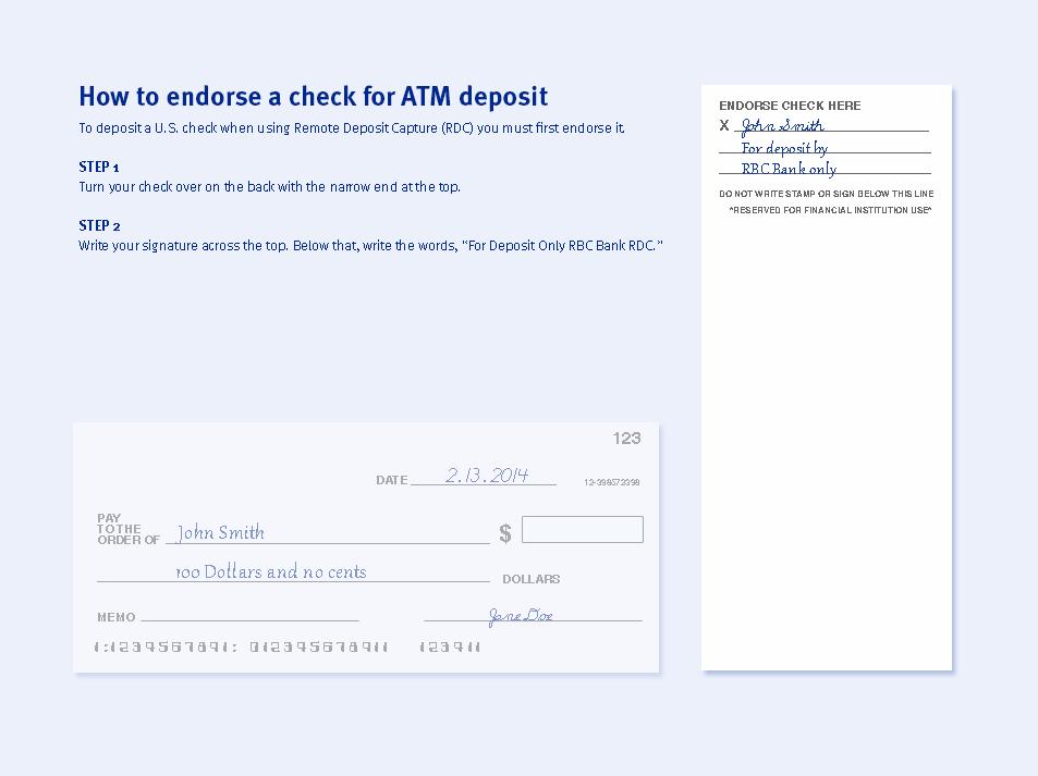 Making a deposit » RBC Bank ®