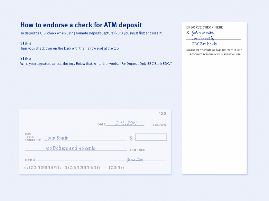 how do you deposit a check at atm